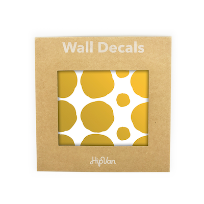 Polka Dot Wall Decals Pack (Pack of 54)  - Gold - Image 1