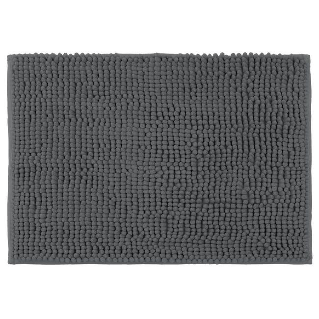 Cora Chenille Floor Mat - Charcoal - 0