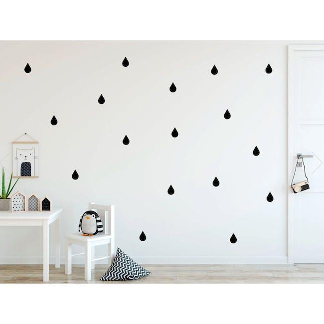 Urban Li'l Raindrops Wall Decal - Black - 0
