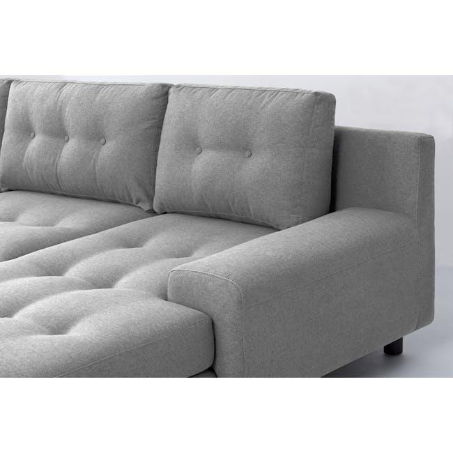 Wyatt L Shape Sofa - Slate (Fabric) - 1