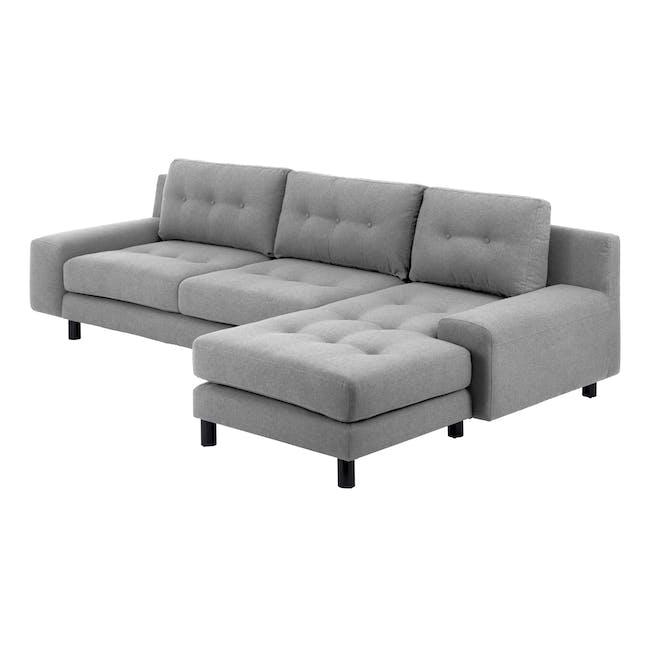 Wyatt L Shape Sofa - Slate (Fabric) - 2