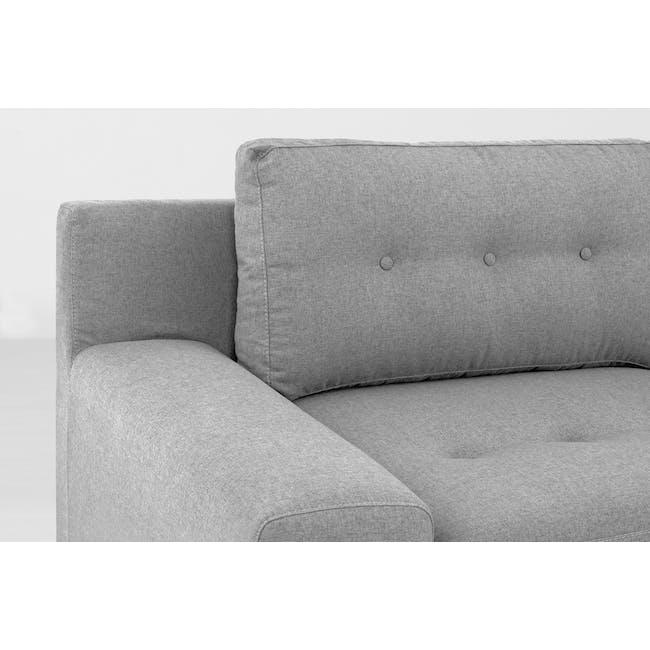 Wyatt L Shape Sofa - Slate (Fabric) - 7