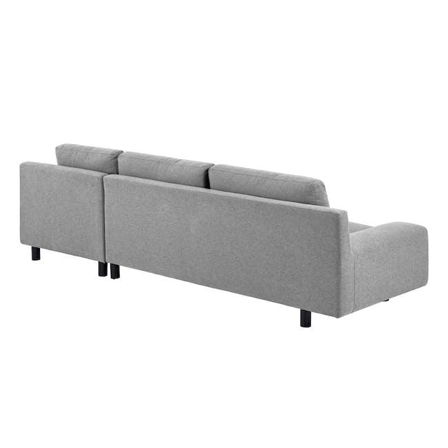 Wyatt L Shape Sofa - Slate (Fabric) - 4