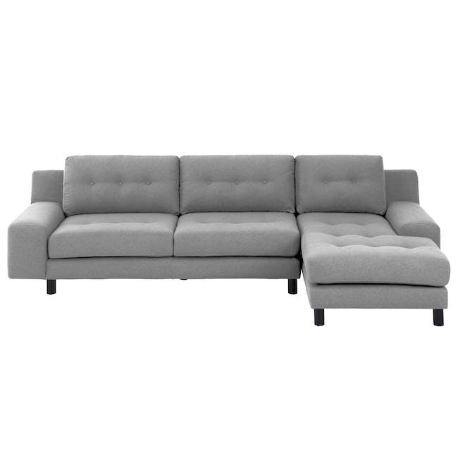 Wyatt L Shape Sofa - Slate (Fabric) - 6