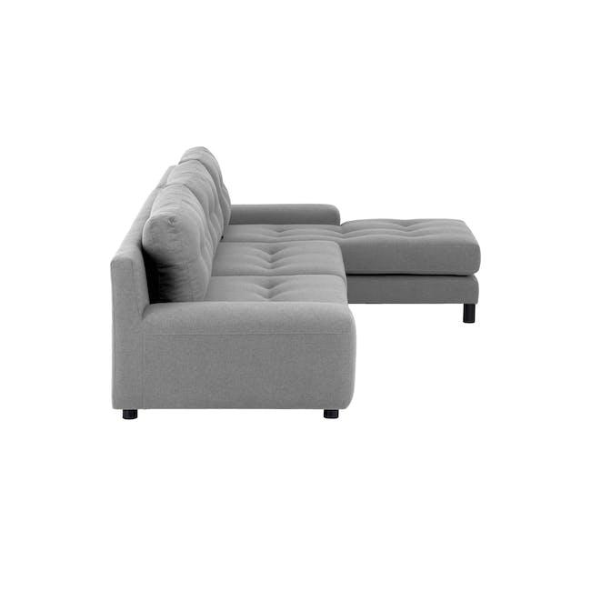 Wyatt L Shape Sofa - Slate (Fabric) - 3