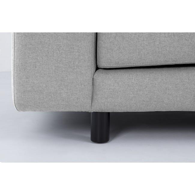 Wyatt L Shape Sofa - Slate (Fabric) - 8