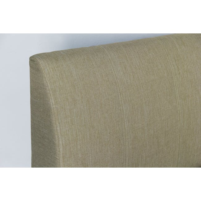 ESSENTIALS Single Trundle Bed - Khaki (Fabric) - 8