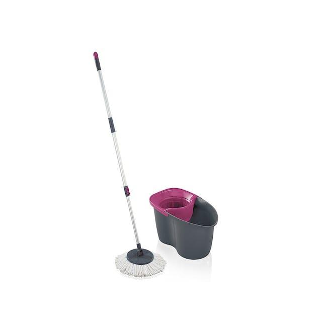 Leifheit Clean Twist Active Mop Set - Pink Grey - 0