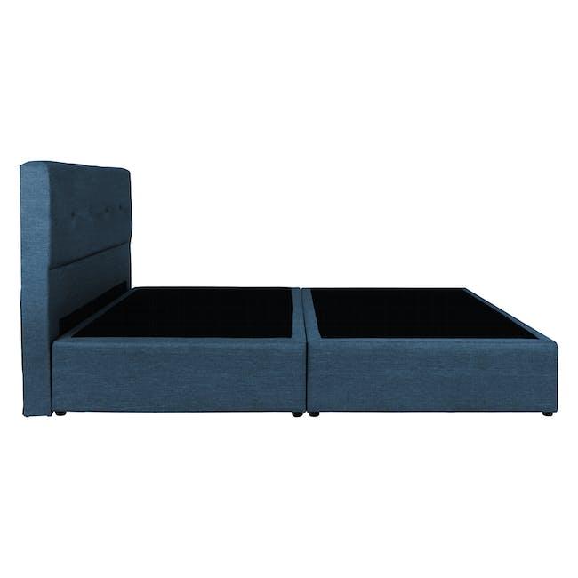ESSENTIALS Single Headboard Box Bed - Denim (Fabric) - 2