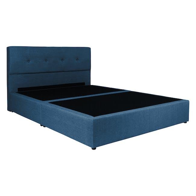 ESSENTIALS Super Single Headboard Box Bed - Denim (Fabric) - 3