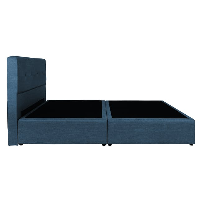 ESSENTIALS Super Single Headboard Box Bed - Denim (Fabric) - 2