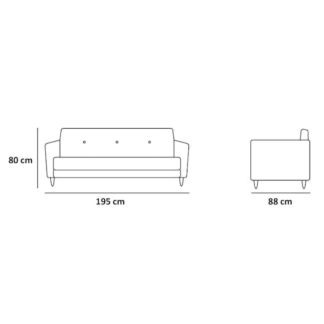Evan 3 Seater Sofa with Evan 2 Seater Sofa - Charcoal Grey - 14