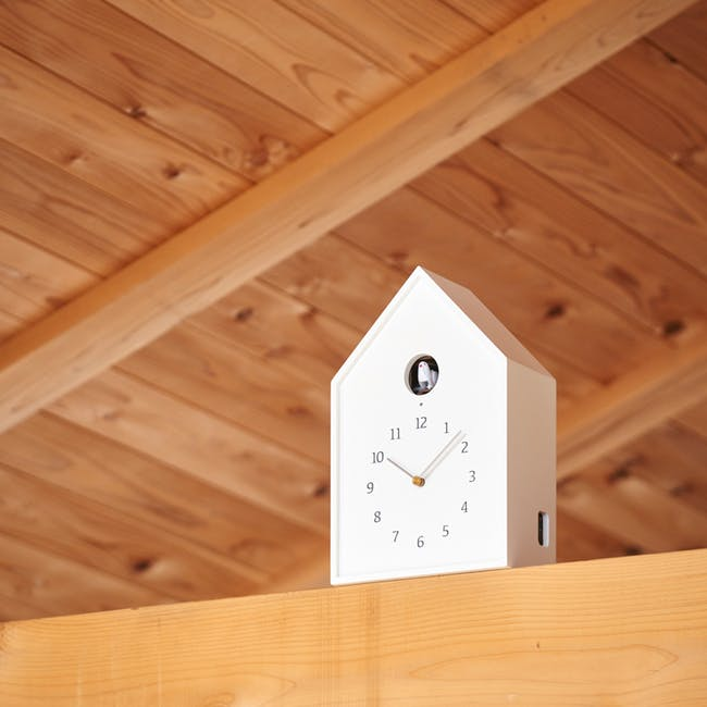 Birdhouse Clock - White - 2