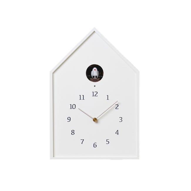 Birdhouse Clock - White - 0