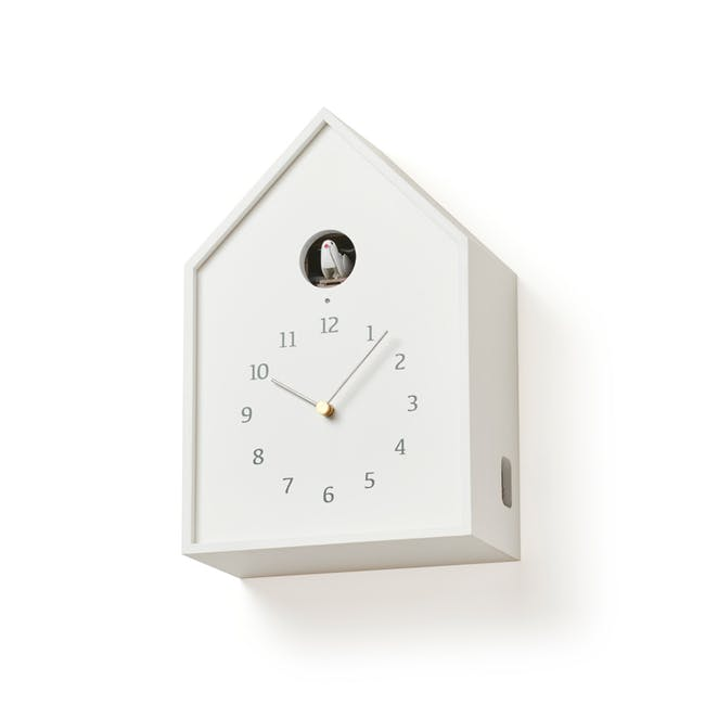 Birdhouse Clock - White - 1