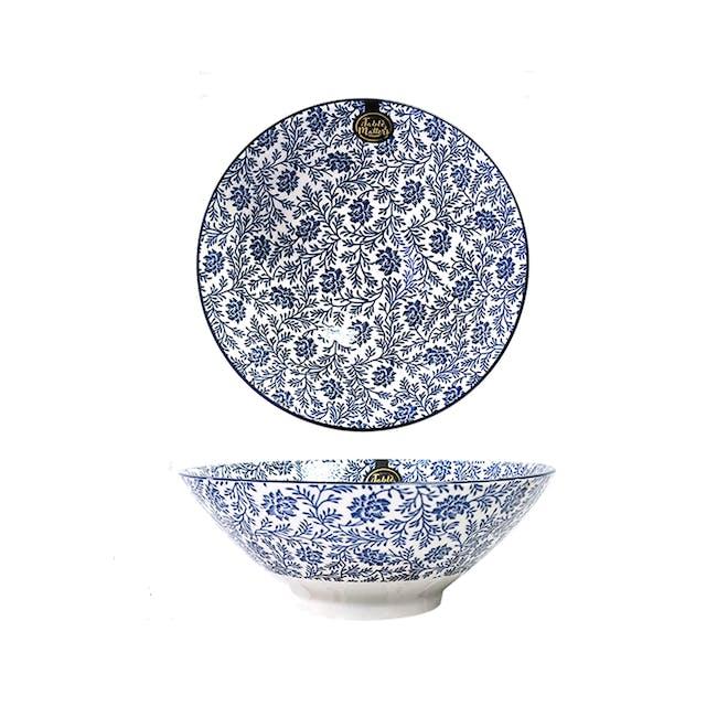 Table Matters Floral Blue Ramen Bowl (2 Sizes) - 0