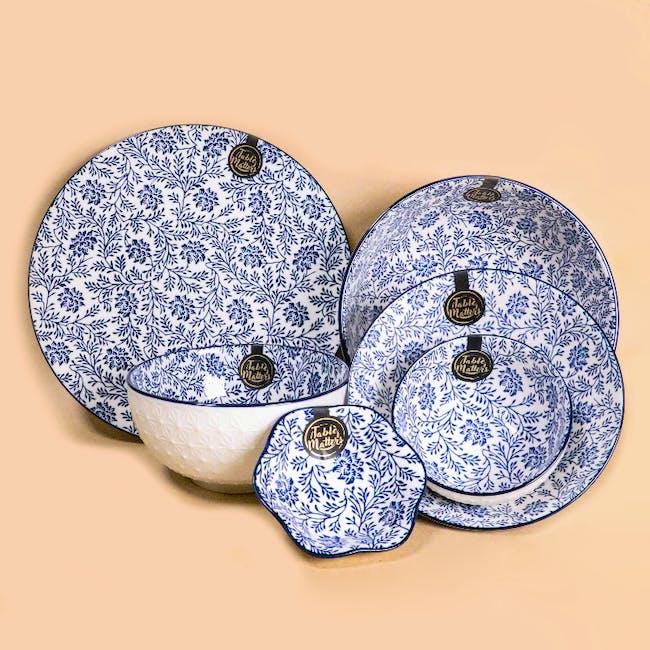 Table Matters Floral Blue Ramen Bowl (2 Sizes) - 5