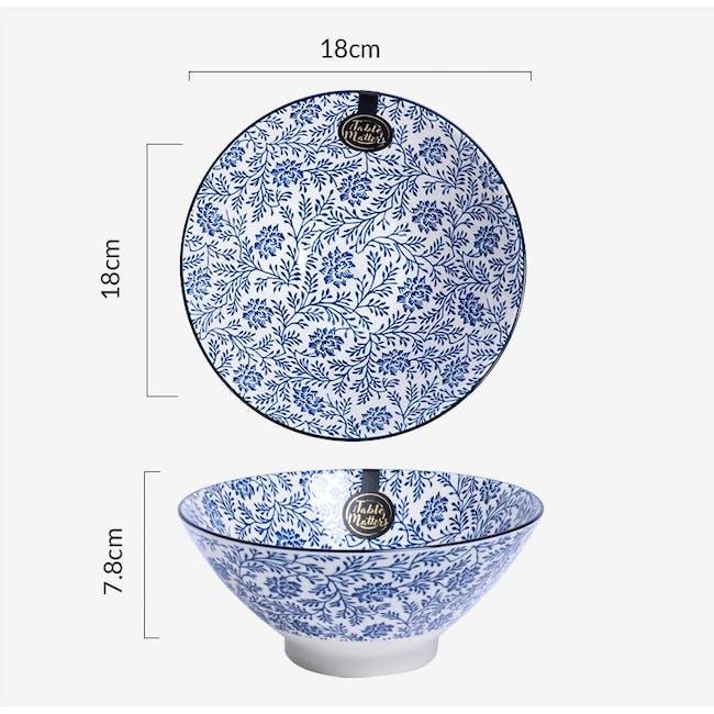 Table Matters Floral Blue Ramen Bowl (2 Sizes) - 2