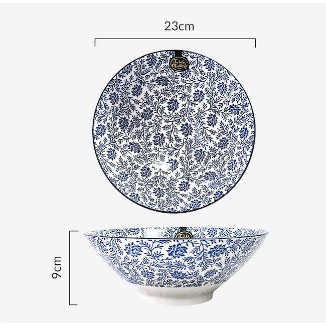 Table Matters Floral Blue Ramen Bowl (2 Sizes) - 3