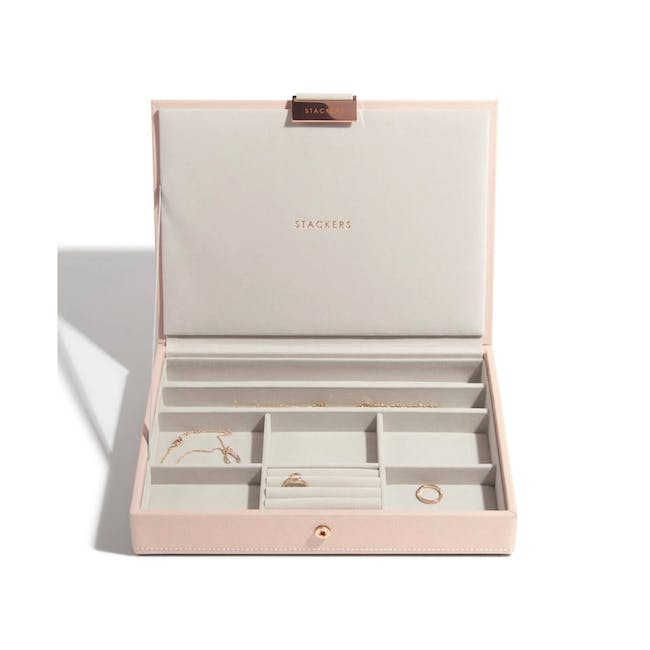 Stackers Classic Jewellery Box with Lid - Blush - 0