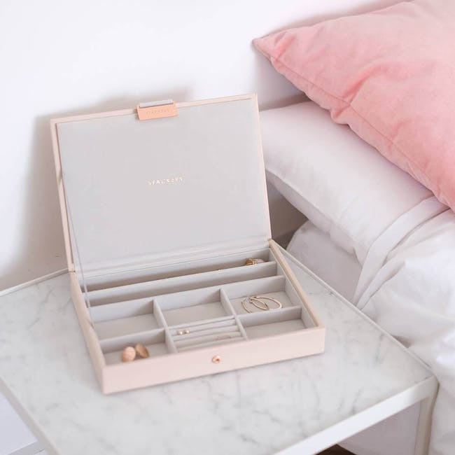 Stackers Classic Jewellery Box with Lid - Blush - 1