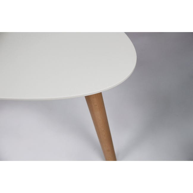 Avery Coffee Table in White and Innis Coffee Table in White - 7