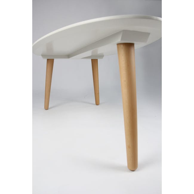 Avery Coffee Table in White and Innis Coffee Table in White - 8