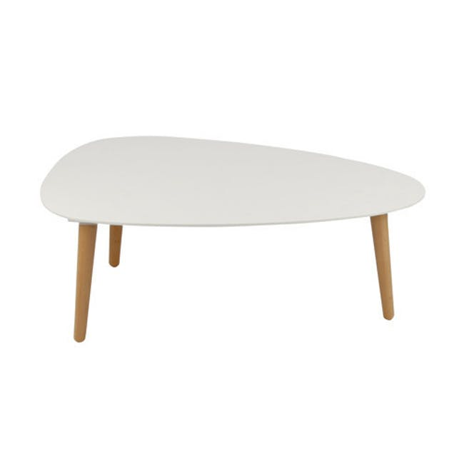 Emelie TV Console 1.6m in Oak, White with Avery Coffee Table in White - 3