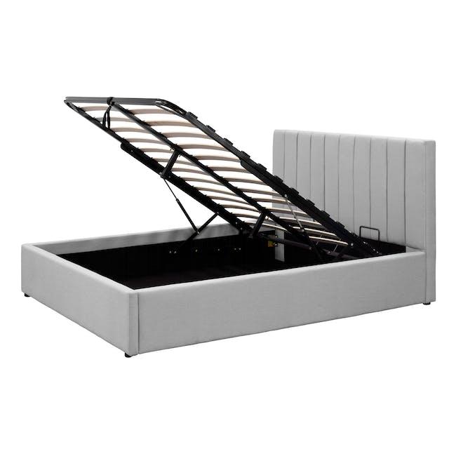 Audrey Queen Storage Bed - Silver Fox (Fabric) - 7