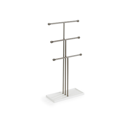 Trigem Jewelry Stand - White, Nickel - Image 2