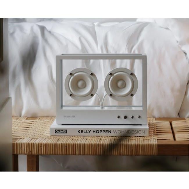 Small Transparent Speaker - White - 1