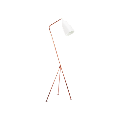 Grasshoppa Floor Lamp - White, Copper - Image 2