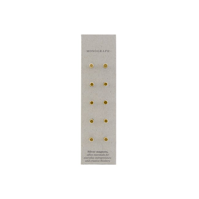 Neo Stud Magnets - Brass (Set of 10) - 0