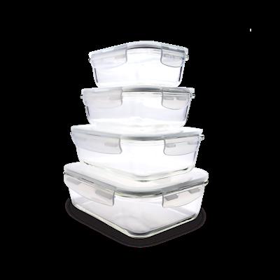 PICNIC Rectangular Glass Food Storage with Lid - 1520 ml - Image 2