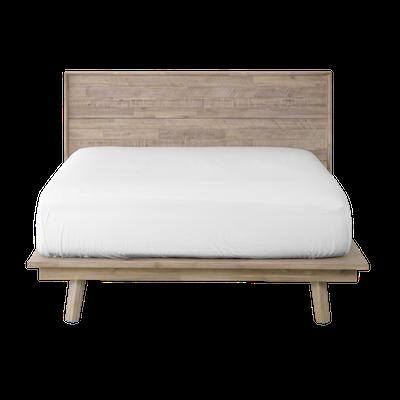 Leland King Platform Bed with 2 Leland Single Drawer Bedside Tables - Image 2