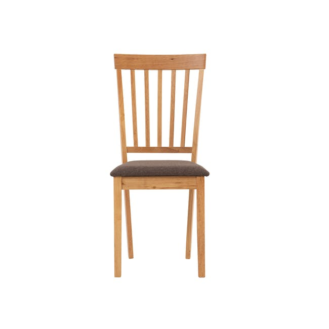 Myla Dining Chair - Natural, Chestnut - 1