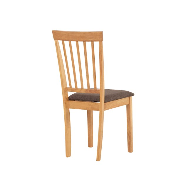 Myla Dining Chair - Natural, Chestnut - 3