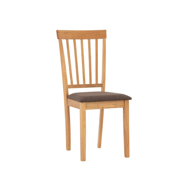 Myla Dining Chair - Natural, Chestnut - 0