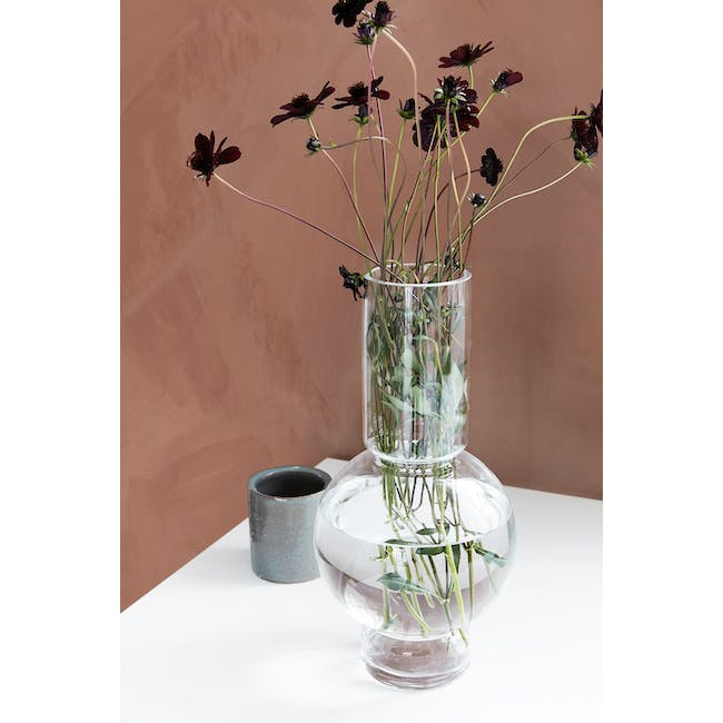 Bubble Tall Vase - Clear - 2