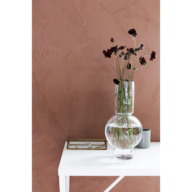 Bubble Tall Vase - Clear - 1