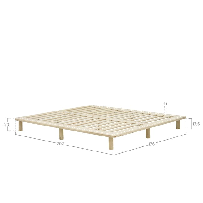 Hiro Queen Platform Bed with 2 Dallas Bedside Tables - 4