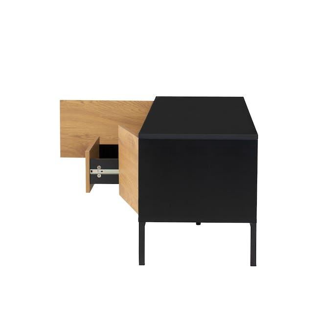 Sligo TV Console 1.4m - Black, Oak - 5