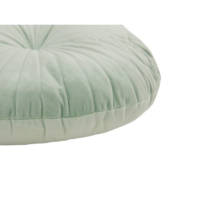 Fenni Round Velvet Cushion - Mint - 3