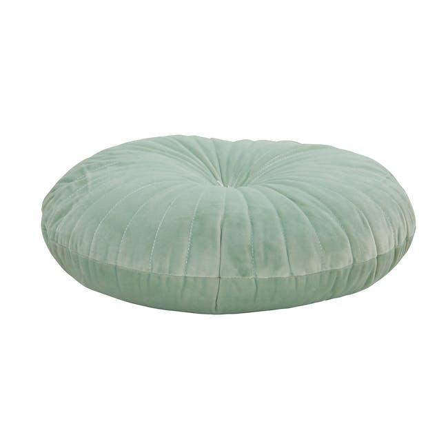 Fenni Round Velvet Cushion - Mint - 2