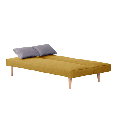 Andre Sofa Bed - Mustard with Grey Cushions - Image 2