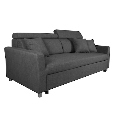 (As-is) Bowen 3 Seater Sofa Bed - Grey - 1 - Image 2