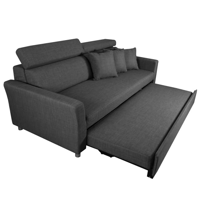 Bowen 3 Seater Sofa Bed - Grey - 4