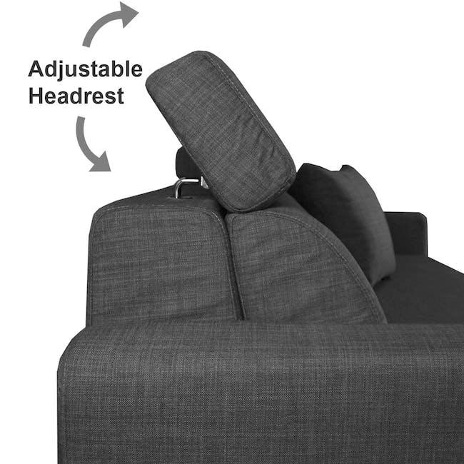 Bowen 3 Seater Sofa Bed - Grey - 7