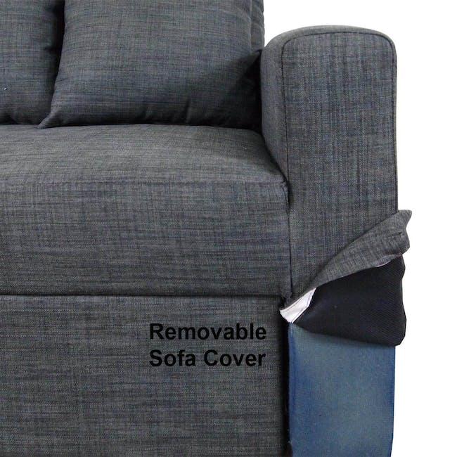 Bowen 3 Seater Sofa Bed - Grey - 6