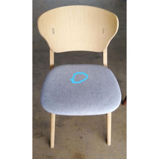 Preloved - (Display Piece) Fabiola Dining Chair - Squirrel Grey, Oak - 1